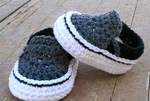 sapatinhos de bebês tricô meninos