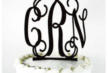 Cake Toppers / Plan the party of the year using these Preppy Monogram Acrylic Cake toppers. / by UnderTheCarolinaMoon