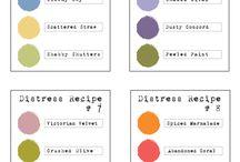 Distress Colour Combos