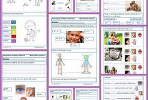 Fichas CONO Primaria / Fichas gratuitas para descargar de conocimiento del medio para niños y niñas de Primaria (6-12 años) / by Escuela en la Nube