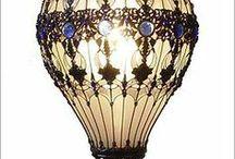 Steampunk lightbulb balloons