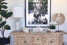 In-Store Inspiration / Vignettes of how we place our global treasures together at Frey.