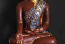 """Burmese Hollow Lacquer Buddha Statues / Making Hollow lacquer Buddha Statues is a dying art. The art of """"Dry lacquer technique"""" (man-hpaya) sculpture was popular in Burma right up to the 1920′s, although they are still being made, they are not being produced in large numbers. http://goldentriangleantiques.com"""