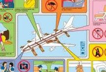 air plane safety cards