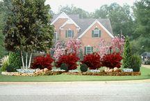 front yard island