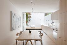 No Visible Blinds - Kitchen Ideas / Wonderful kitchens with sliding doors, bi-folding doors, rooflights, roof lanterns and no visible blinds.
