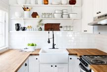 Kitchen Ideas / Here is a collection of kitchens we would love to be cooking in!