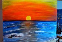 pintura  em tela  e painéis   .