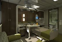 Modern patient bedroom
