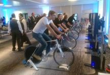 Cycling Simulator / One of the latest and most unique Interactive sports simulators adapted by PSW Events Ltd for the corporate entertainment market, our Virtual Reality Cycling Simulator offers an incredibly realistic Cycling experience.