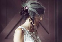 Stunning veils and hair accessories