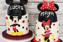 Mickey & Minnie birthday cakes