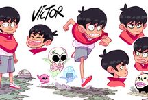 Illustrated characters