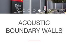 Acoustic wall / Acoustic wall / fence - commercial