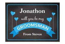 Wedding Attendants / Will you be my...bridesmaid, groomsman, best man, flower girl, page boy, godmother, godfather, etc.