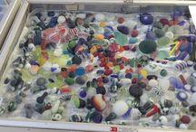 Glass, especially beach glass / Beach glass!