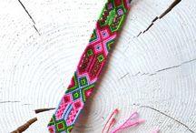 Bracelet Macramé - Brésilien / bracelet Macramé fait main, modèle unique technique du bracelet brésilien - tendance été 2017 - coloré www.hiilos.com