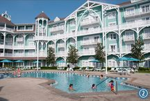 Disney's Beach Club Villas / Delight in the casual elegance of a resort inspired by early 20th century Mid-Atlantic seaside homes. Bask in the romance and grandeur of sunny gardens, elegant lounges, croquet courts and a sprawling three-acre pool complex.