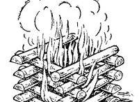 Костры, огонь