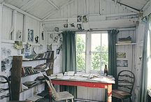 Scope for the Imagination / Spaces that inspire and energize, including she sheds.  / by Donna Maukonen