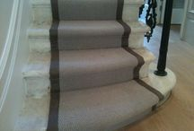Grey Stairs Carpet With A Black Border / Client: Private Residence In South London. Brief: To supply & install a carpet as runner onto stairs.Client: