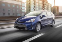 The 2016 Toyota Prius V @ Milton Toyota / The 2016 Prius v hybrid crossover features striking styling including a sleek front face, eye-catching colors, and soft-touch materials. Prius v also offers the remarkable combination of a family-friendly interior, Toyota hybrid fuel efficiency, and a wide array of standard and available features. You can add to the experience with a choice of two great packages — Luxury and Technology.