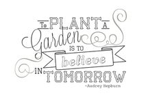 """""""To Plant a Garden""""  Theme for March"""