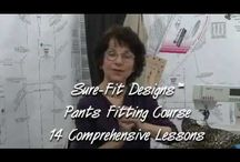 Pant Pattern Videos / See how easy it is to draw the Sure-Fit Designs pants pattern fit exclusively to your body shape.  Refinements and alterations have never been easier because you start with a pattern based on your body circumferences.