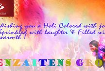 Holi / Wishing you all a very bright,colourful and joyful holi. With love and best wishes !!!