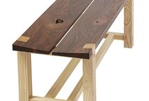 Wooden benches / By Wood4Africa and others.