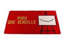 """Felpudo """"Mira que Sencillo"""" / Felpudos Originales y Divertidos Maceta Colorá www.macetacolora.com"""