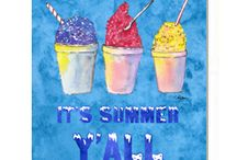It's Summer Y'all!  Time for snowballs....  the southern kind! / Only in the south would you find these yummy treats.  Growing up just North of New Orleans you knew it was summer when the snowball stand opened.  Memories with my grandparents heading to the snowball stand on the corner to cool off with these tasty treat.  Every small town has at least one....