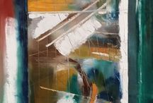 #AbstractExpressionism, The Beauty of My Dreams / Oil paintings on canvas or wood.