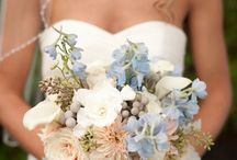 light blue & gold wedding