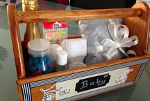 Baby Box Gift / Use a wooden tool box to create a wonderful presentation to the new mum or dad.