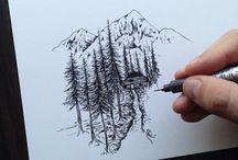 manzara çizimleri