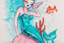 Mermaids!! / Lovely lively mermaids! I will be one some day!