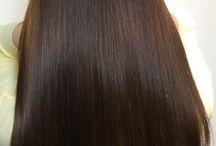 魅力的なストレートヘアー(縮毛矯正)