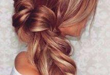 Blond w red