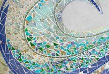 Mozaik , taş, deniz / Mozaik