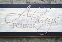 Signs, Signs & More Signs! / by Our Hobby To Your Home & Wedding