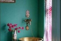 colour in rooms. Inside and outside.