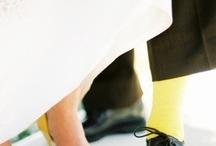 Yellow wedding shoe