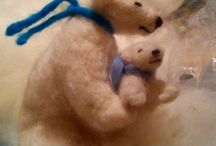 Needle felting and wool projects
