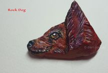 Rock Dogs / Dogs painted on rocks I have found. They just looked like dogs so I had to paint them.