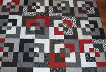 red and black quilts
