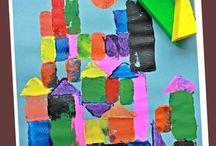 Geometrische Formen - Malen/ Basteln mit Kindern