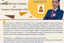 GLBIMR-ians Outshine in Summer Internships-2018
