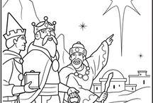 Printable Christmas Coloring Pages / Printable Christmas Coloring Pages: Nativity Scenes,  the Holy Family, Christmas Angels, and more.