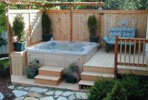 MACK.Hot tub deck